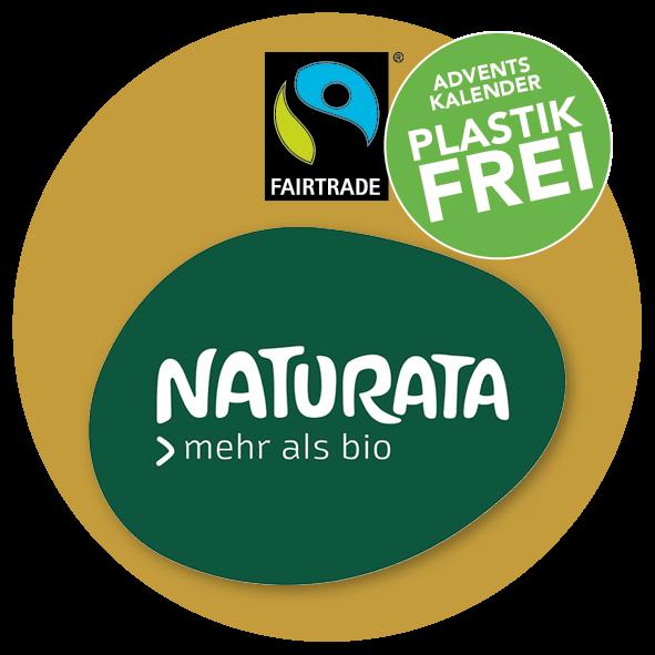 Adventskalender mit Naturata Bio halbbitter Schokolade
