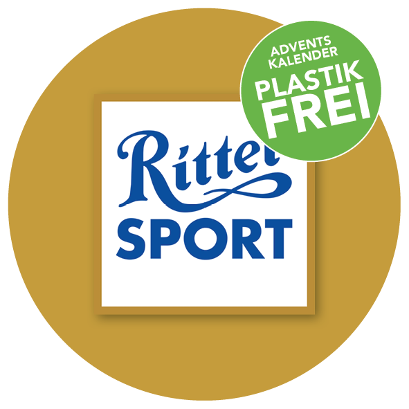 Plastikfreier Adventskalender mit Ritter Sport Mini Bunter Mix