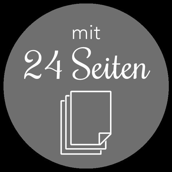 Adventskalender mit 24 Seiten zum Aufhängen