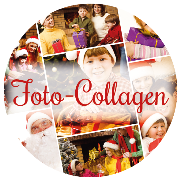 Adventskalender mit Foto-Collagen